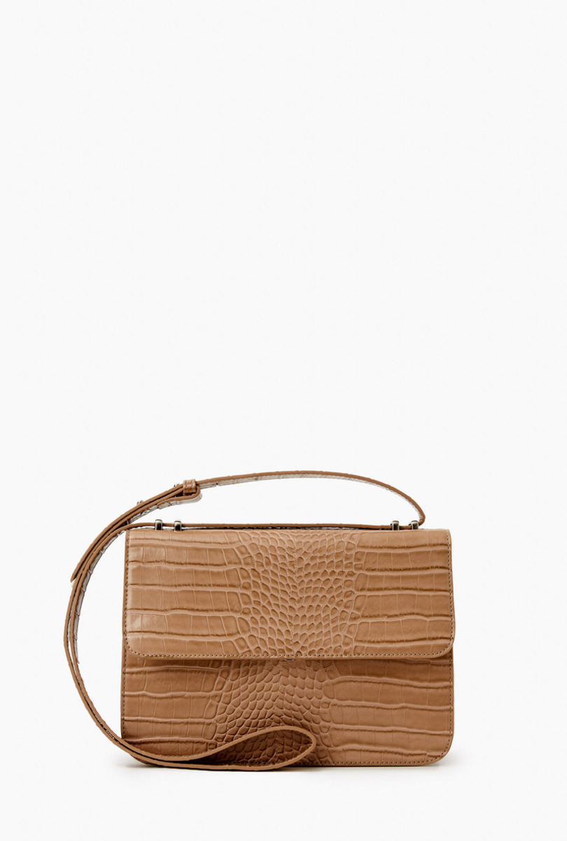 Crocodile-effect shoulder bag