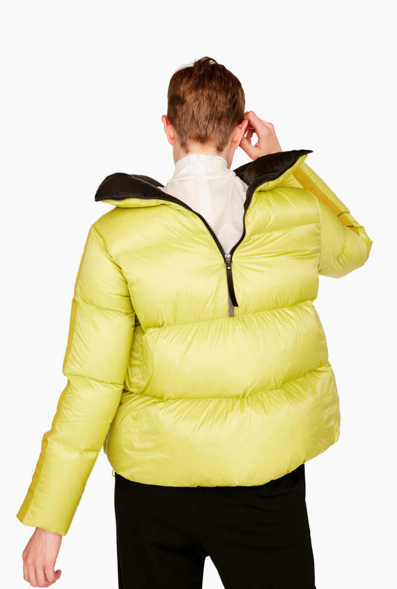 Two-tone quilted down jacket