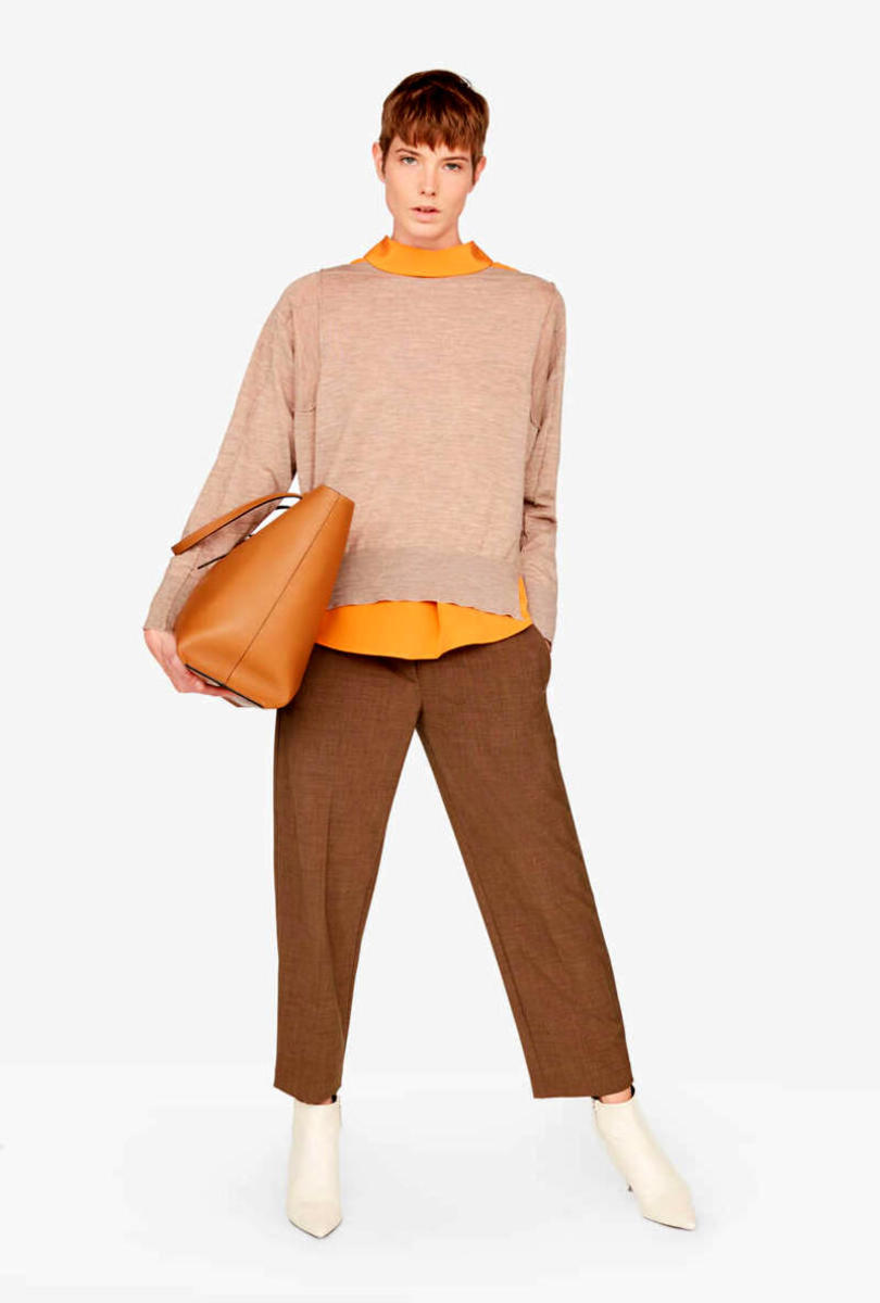 Light wool trousers