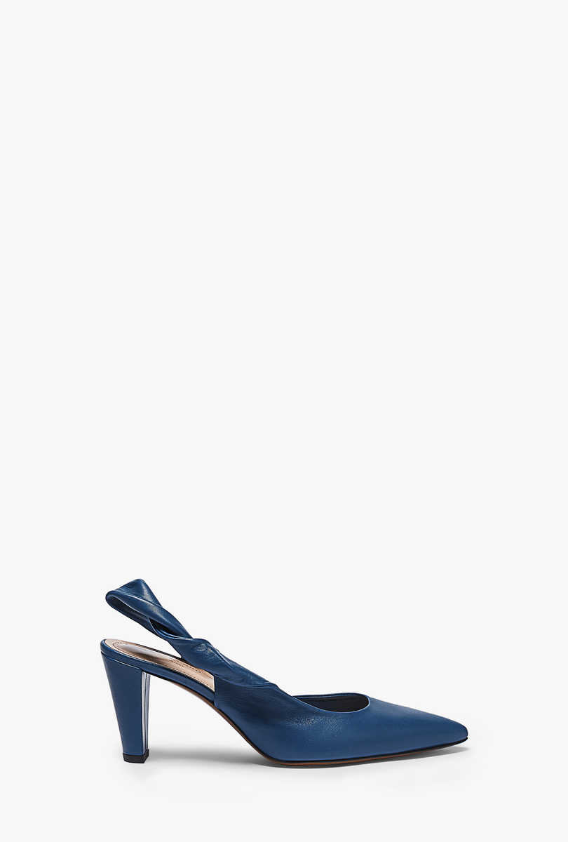 Nappa leather court shoes