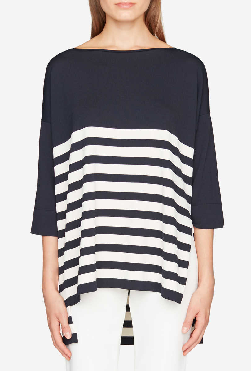 Striped oversize jumper