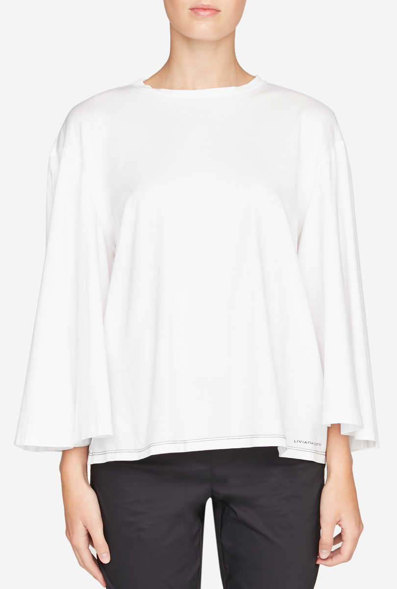 Wide-cut cotton T-shirt